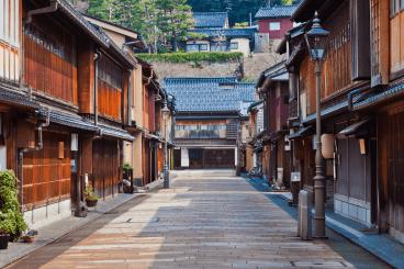 Higashi Chaya geisha teahouse district Kanazawa Japan