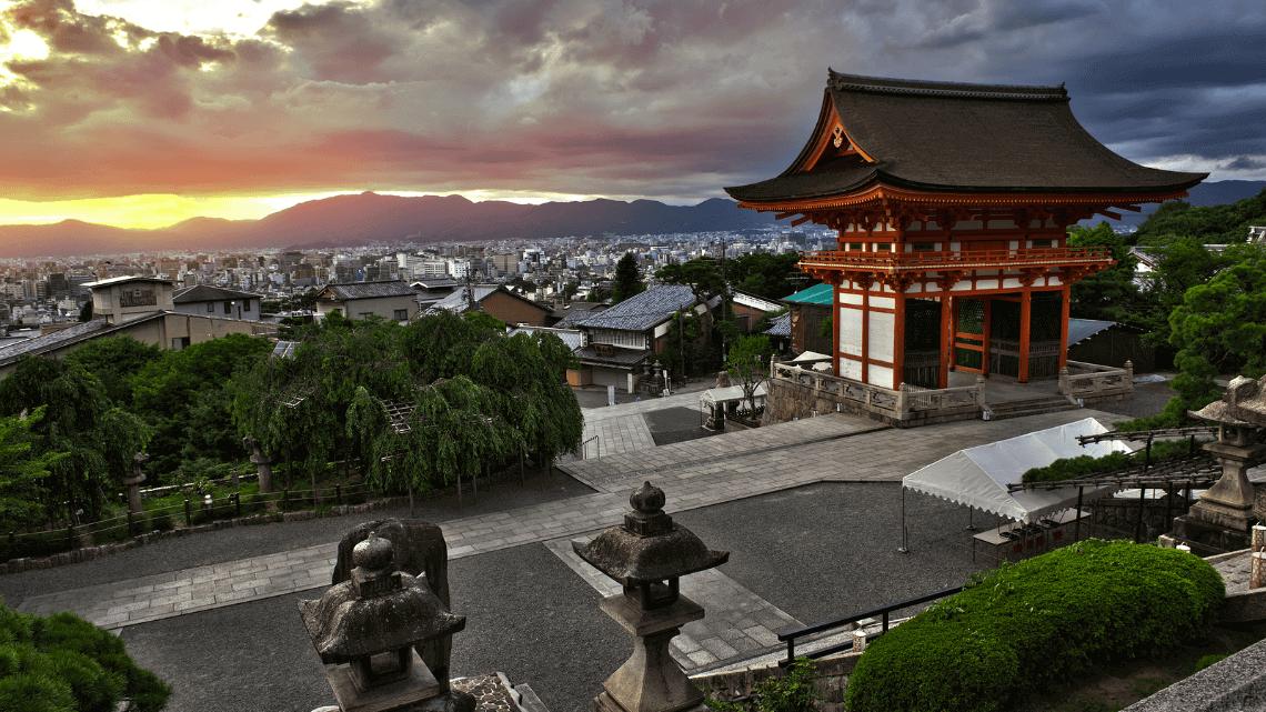 Sunset from Kiyomizu-dera, Kyoto, Japan