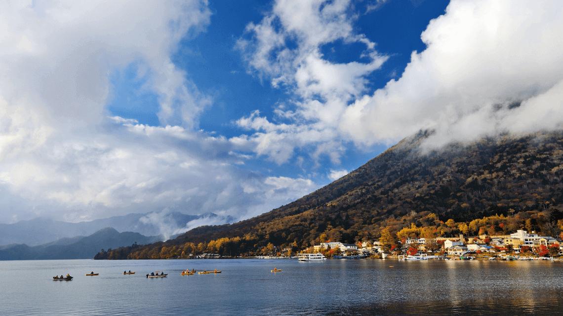 Mount Nantai and Lake Chuzenji, Nikko, Japan