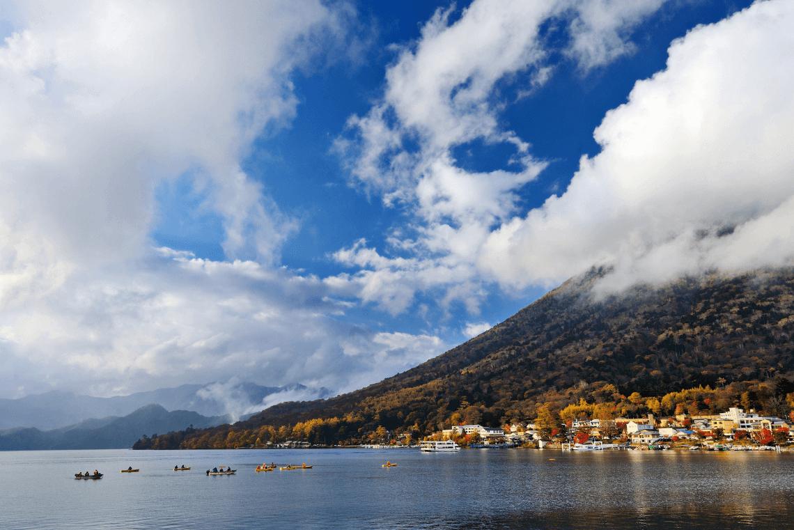 Nikko's Lake Chuzenji and Mount Nantai in fall