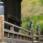 Kyoto Japan Ninna-ji temple UNESCO world heritage site architectural detail close up