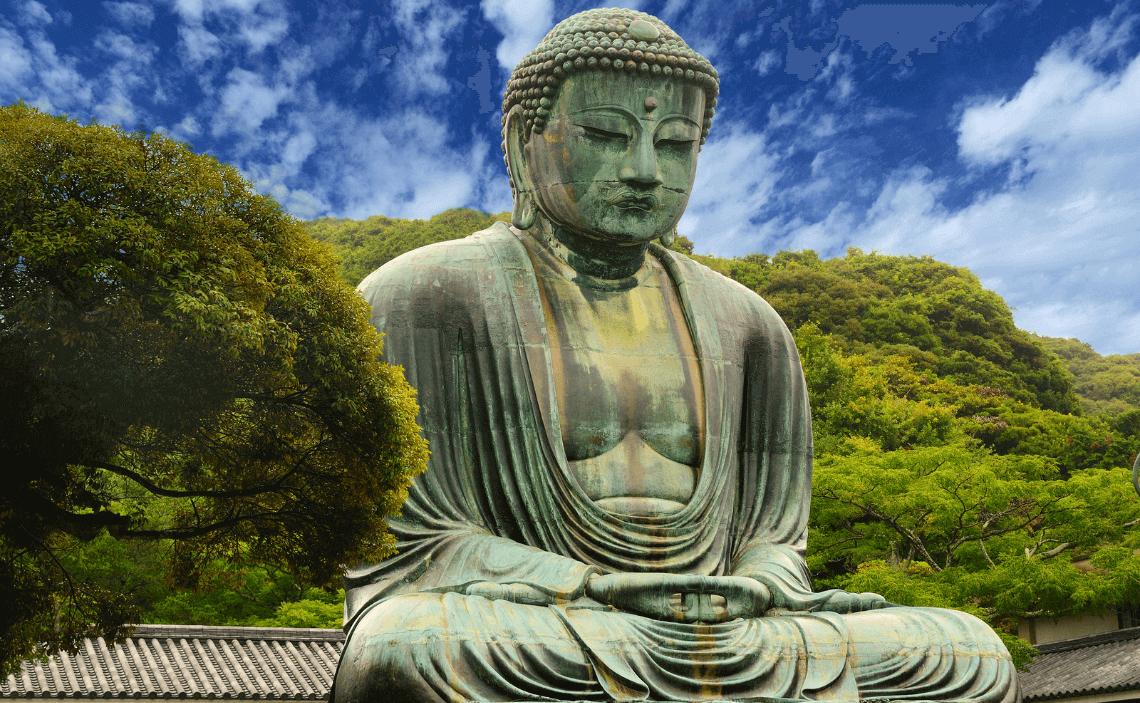 The Daibutsu (Great Buddha) at Kotokuin Temple in Kamakura, Japan