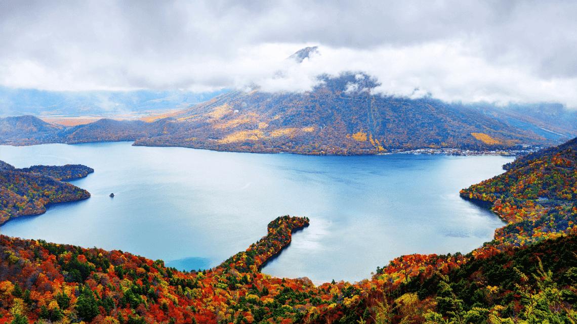 Autumn leaves in Nikko, Japan