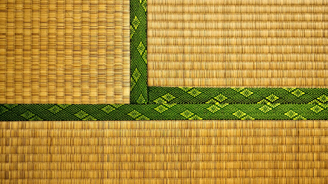 A traditional Japanese tatami mat