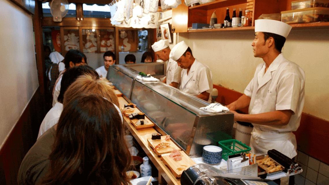 A sushi-ya (sushi shop) in Tokyo, Japan