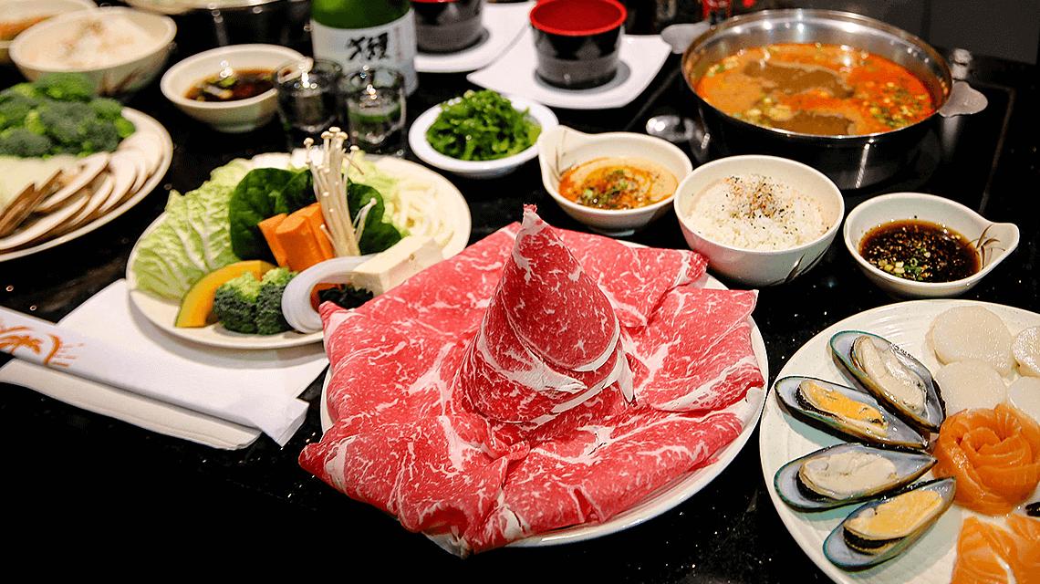 Shabu-shabu, a Japanese hotpot dish