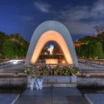 Hiroshima cenotaph peace park memorial atomic bomb dome japan