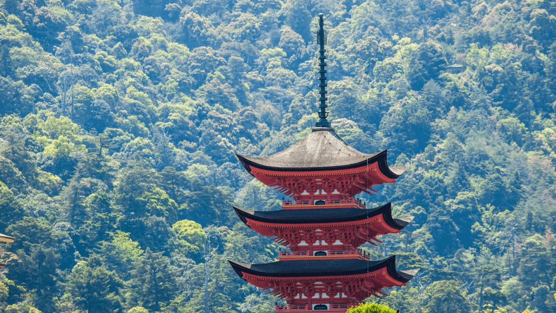 Gojuto Pagoda, Miyajima Island, Hiroshima, Japan