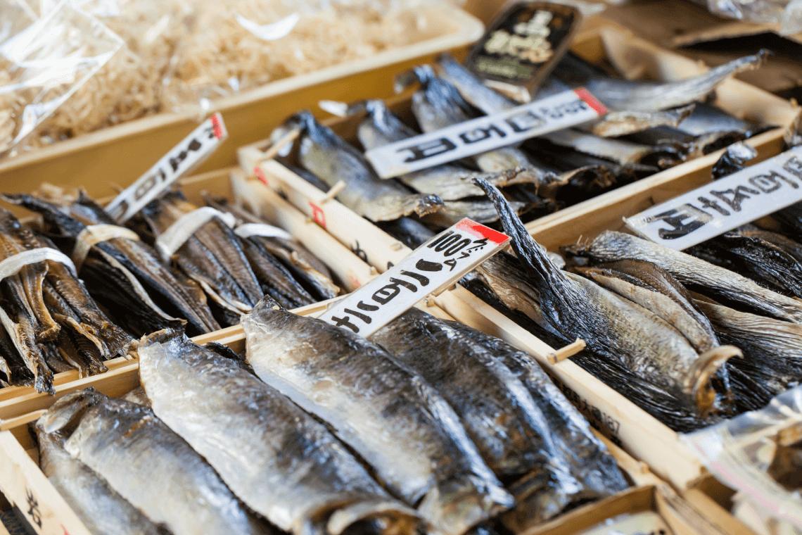Fish on display at Tokyo's Tsukiji Market