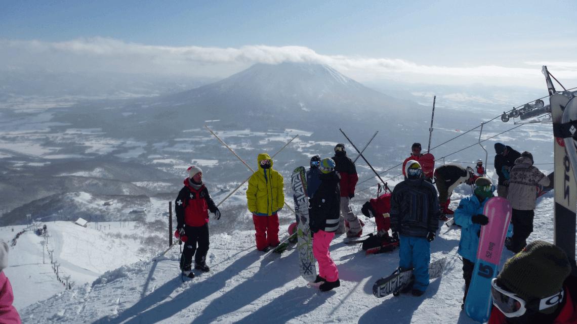 View of Mount Yotei from the Grand Hirafu at Niseko resort, Hokkaido, Japan