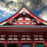 Pediment of Sensoji Temple Asakusa Tokyo Japan