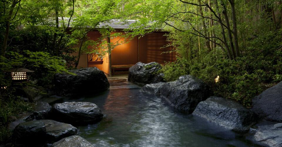 Tsuu-no-Yu bath at Yagyu-no-Sho ryokan, Izu, Shizuoka, Japan