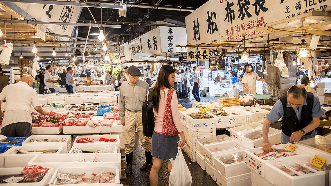 Tsukiji Outer Market, Tokyo, Japan
