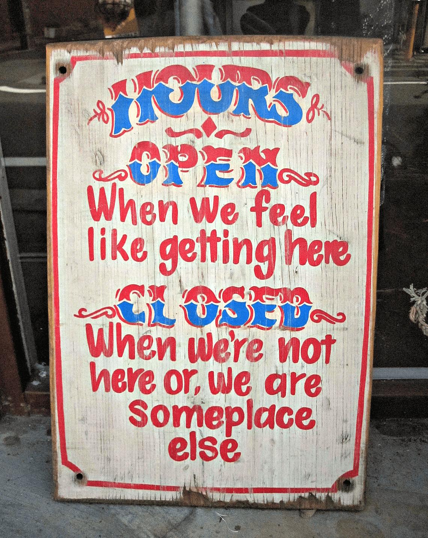 A circus inspired shop sign in Harajuku, Tokyo, Japan