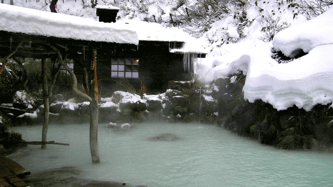 Tsurunoyu onsen, in the Akita Prefecture of Tohoku, Japan