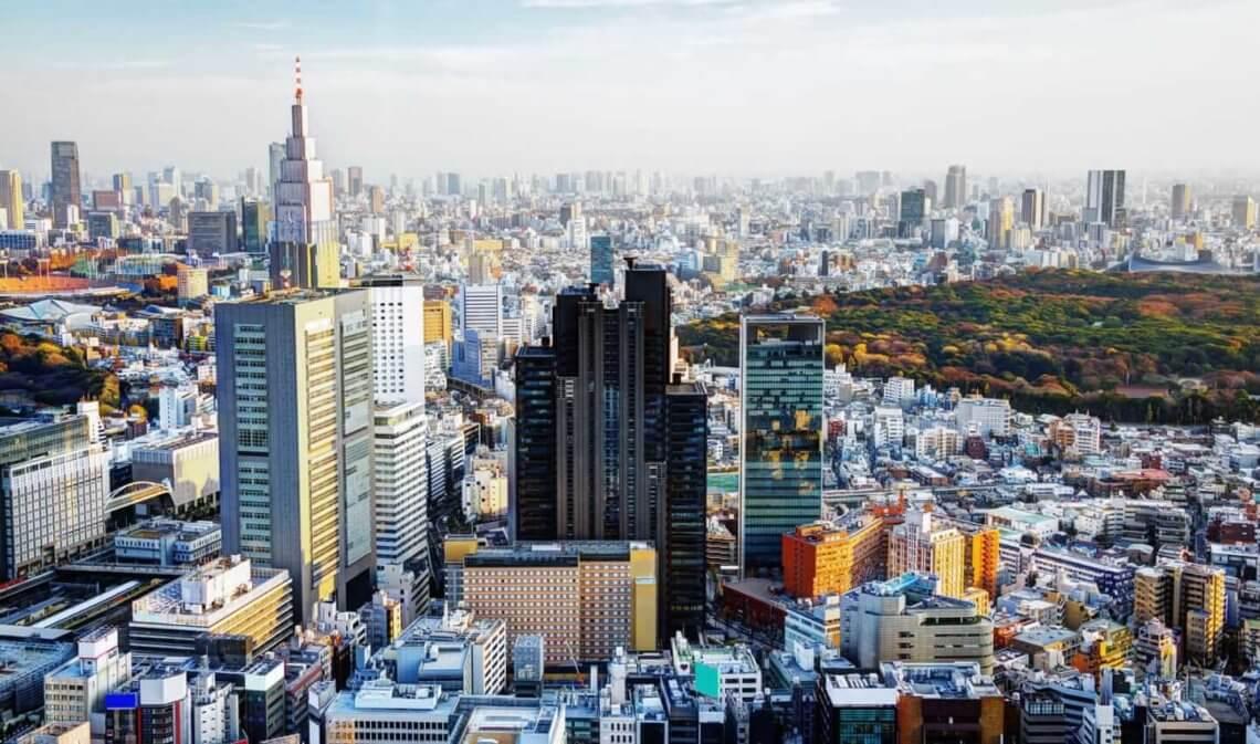 The Shinjuku skyline in Tokyo, Japan
