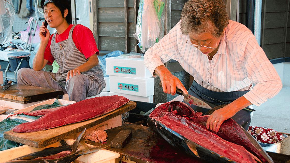 Wajima Asaichi Morning Market in the Noto Peninsula, Japan