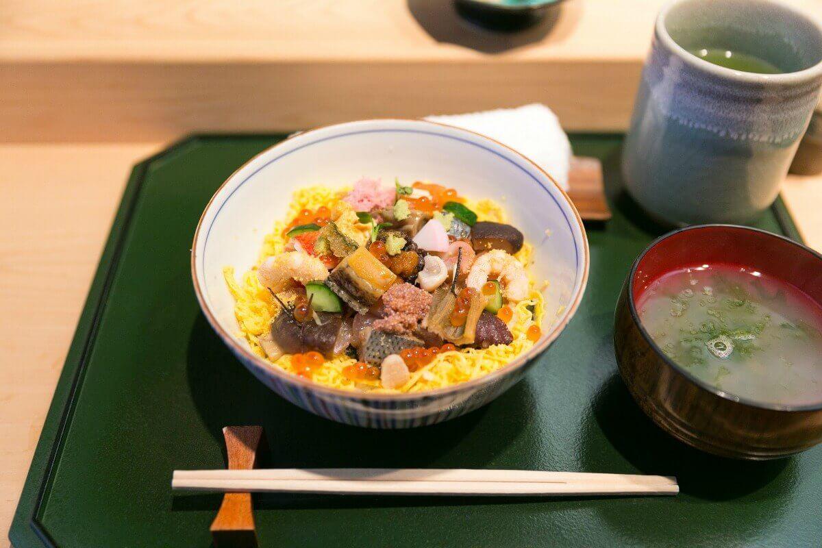 Bara-Chirashi at Sushi Sho in Tokyo, Japan