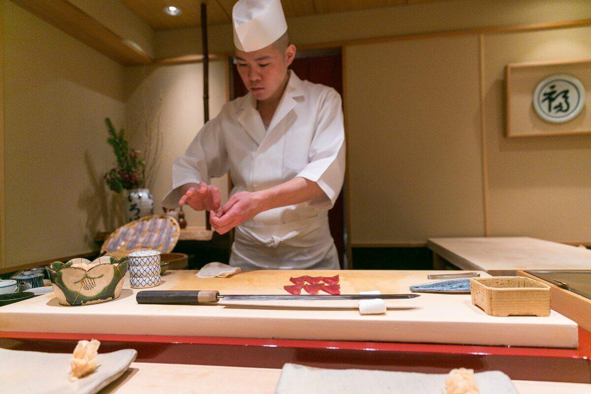 Chef Takao Ishiyama in Tokyo, Japan