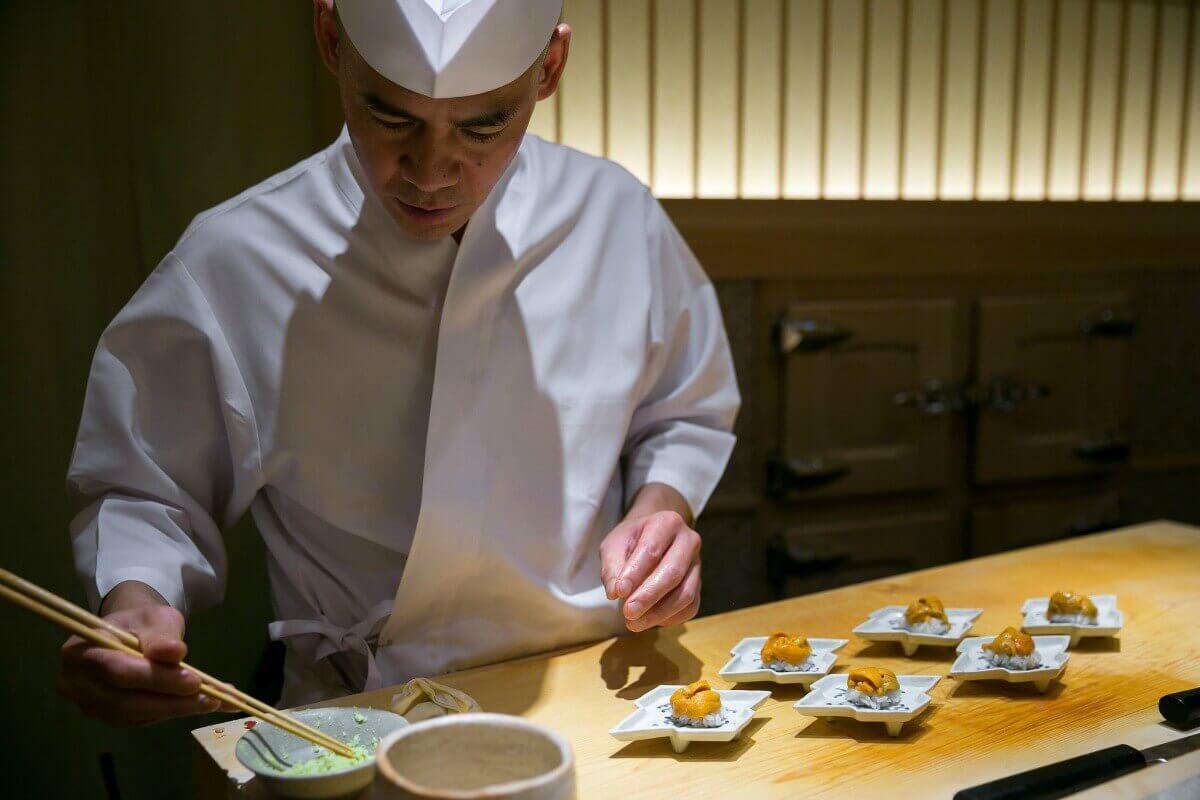 Takashi Saito at Sushi Saito in Tokyo, Japan