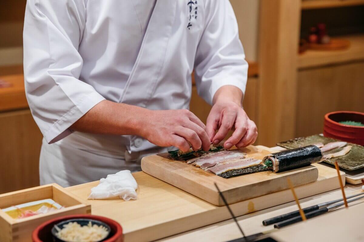 Sushi prep at Sushi Sugita