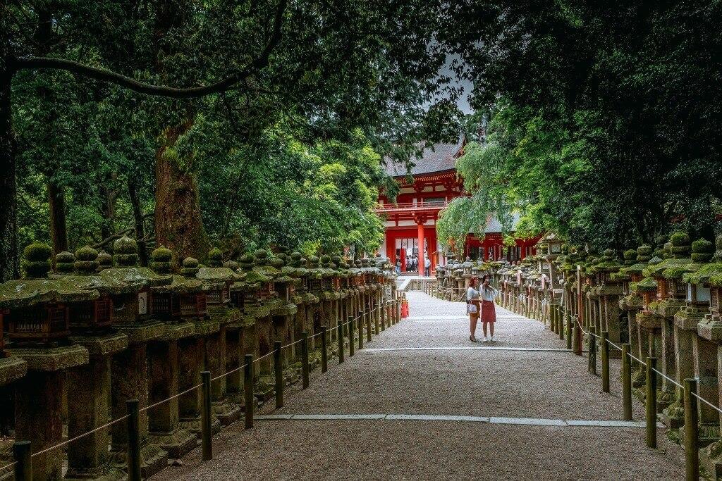 stone lanterns of Kasuga Taisha in Nara, Japan