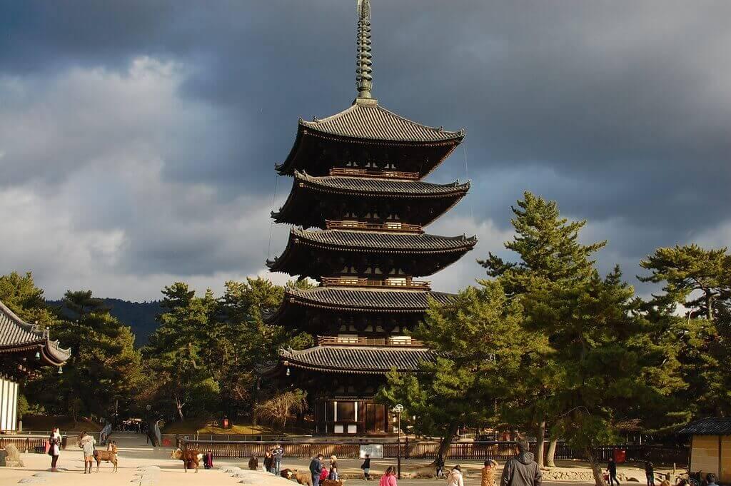 pagoda at Kofukuji temple in nara, japan